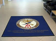 Custom Made Logo Mat Purchased On GSA Contract - 10th Logistics And Readiness Squadron US Air Force Academy Colorado Springs Colorado