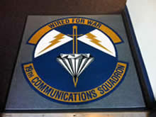 Custom Made Logo Mat Purchased On GSA Contract - 19th Communications Squadron