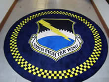 Custom Made Logo Mat Purchased On GSA Contract - 325th Fighter Wing Tyndall Air Force Base Florida