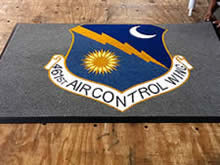 Custom Made Logo Mat Purchased On GSA Contract - 461st Air Control Wing Robins Air Force Base Georgia
