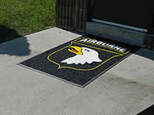 Custom Made Logo Mat Purchased On GSA Contract - 101st Airborne Division Fort Bragg North Carolina