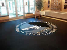 Custom Made Logo Mat Purchased On GSA Contract - Naval Air Station Whidbey Island Washington