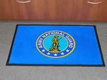 Custom Made Logo Mat Purchased On GSA Contract - Army National Guard Teaneck Arsenal Bergenfield New Jersey