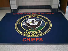 Custom Made Logo Mat Purchased On GSA Contract - Cheokee High School ROTC Marlton New Jersey