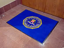 Custom Made Logo Mat Purchased On GSA Contract - Federal Bureau Of Investigation Newark New Jersey