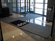 Custom Made Logo Mat Purchased On GSA Contract -
