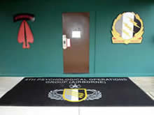 Custom Made Logo Mat Purchased On GSA Contract -  4th Psychological Operations Group Fort Bragg North Carolina