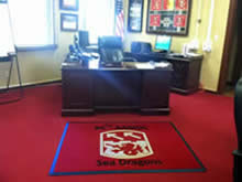 Custom Made Logo Mat Purchased On GSA Contract - 94th Army Air Missle Defense Command Fort Shafter Hawaii - Sea Dragons