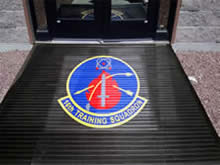 Custom Made Logo Mat Purchased On GSA Contract - 16th Training Squadron Holliman Air Base Alamagordo New Mexico