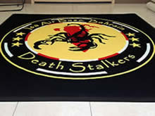 Custom Made Logo Mat Purchased On GSA Contract - ISSA Air Force Base Bahrain Death Stalkers