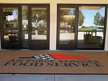 Custom Made Logo Mat Purchased On GSA Contract - Joshua Tree Dining Facility Edwards Air Force Base