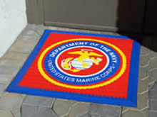 Custom Made Logo Mat Purchased On GSA Contract - MArine Corps Base Quantico Viginia