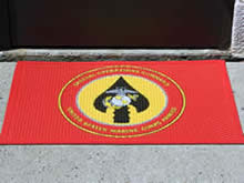 Custom Made Logo Mat Purchased On GSA Contract - Marines Special Operations Command Fort Bragg North Carolina