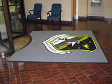 Custom Made Logo Mat Purchased On GSA Contract - Wargaming Institute Maxwell Air Force Base Little Rock Arkansas