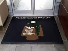 Custom Made Logo Mat Purchased On GSA Contract - National Park Service National Capitol Region