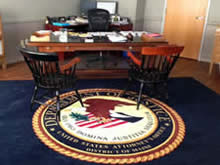 Custom Made Logo Mat Purchased On GSA Contract - United States Attorneys Office Portland Maine