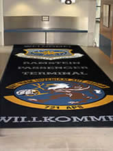 Custom Made Logo Mat Purchased On GSA Contract - Ramstein Air Base Germany