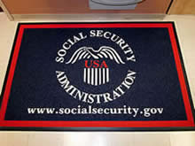 Custom Made Logo Mat Purchased On GSA Contract - Social Secirity Administration Bloomington Minnesota