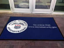 Custom Made Logo Mat Purchased On GSA Contract - Social Security Administration Tuscon Arizona
