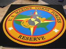 Custom Made Logo Mat Purchased On GSA Contract - United States Marine Corps Forces New Orleans Louisiana