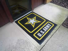 Custom Made Logo Mat Purchased On GSA Contract - United States Army Recruiting Office Wheeling West Virginia