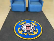 Custom Made Logo Mat Purchased On GSA Contract - United States Coast Guard Recruiting Office New Orleans Louisiana