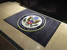 Custom Made Logo Mat Purchased On GSA Contract - Consulate Of The United States Adana Turkey