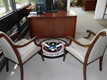 Custom Made Logo Mat Purchased On GSA Contract - Department Of Homeland Security Los Angeles California