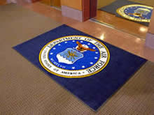 Custom Made Logo Mat Purchased On GSA Contract - Eglin Air For Base Valparaiso Florida Okaloosa County