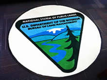 Custom Made Logo Mat Purchased On GSA Contract - United States Bureau Of Land Management Oregon Washington Region