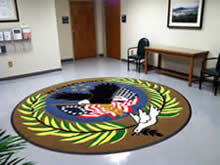Custom Made Logo Mat Purchased On GSA Contract - Veterans Administration Chaplaincy Fort Benning Georgia