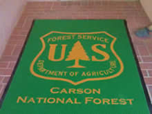 Custom Made Logo Mat Purchased On GSA Contract - US Forest Service Carson National Forest Taos New Mexico
